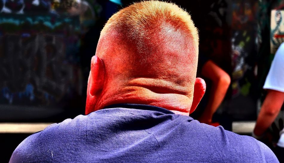 Adult Back Of Head Close-up Day Documentary Photography Ginger Head Ginger Nut Headshot Hijab Hood Hood - Clothing Leisure Activity Lifestyles Men One Person Outdoors People Photography Themes Real People Rear View Red Street Photography