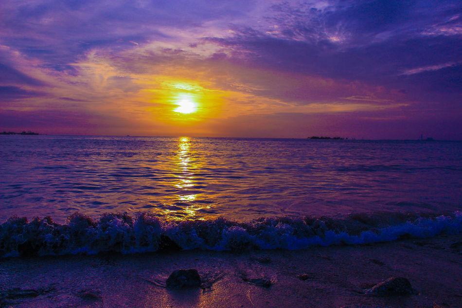 Beach Leonpws Nature Nature_collection Ocean Outdoors Purple Sky Sun Sunrise Vibrant Color Wave Xplorasia Xploration_nation