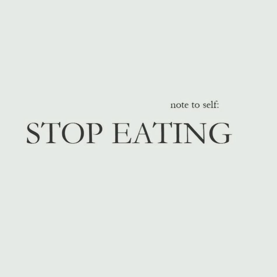 Winter depression mood is ON ? I'm cutting food out of my life !!! Nofood Starving Fuck It Check This Out