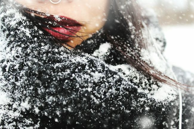Winds were at 40mph , snow fell nicely, sure it was cold as fuck. But hey, it's better then being chased by mosquitos during the summer. That's Me Taking Photos People EyeEm Winter Snow EyeEm Best Shots Bokeh Showcase: February Red Lips Piercing
