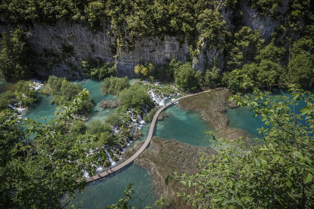 bridge over troubled water Aerial View Beauty In Nature Croatia Crystal Clear Crystal Clear Waters Day Extreme Weather EyeEmNewHere High Angle View Lake Lakes  Natural Natural Disaster Nature Nature No People Outdoors Plitvice Plitvice Lakes National Park Plitvice National Park Reservoir Stream - Flowing Water Tranquility Tree Water