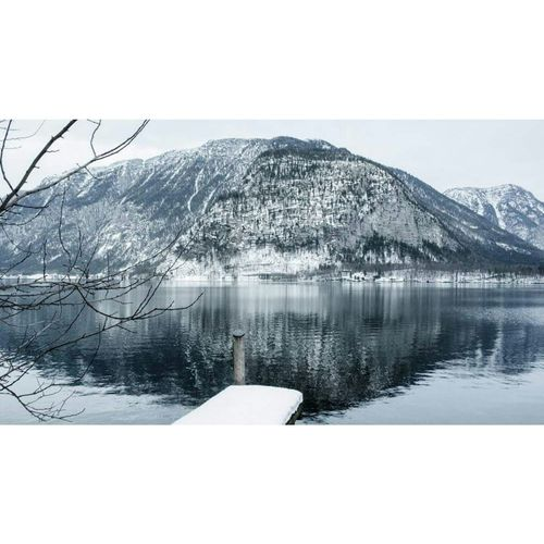 Water Sea Nature Accidents And Disasters Tree Tranquil Scene Day Outdoors Extreme Weather Nautical Vessel No People Natural Disaster Beauty In Nature Winter Hallstatt, Austria Austrian Alps Nature Photography Mirror Picture Mountain Mountains Cold Hallstatt Österreich Natural Beauty First Eyeem Photo