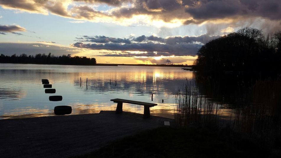 Water Reflections Nature Waterbeauty Everyday Joy Sunset Biutifull Photo