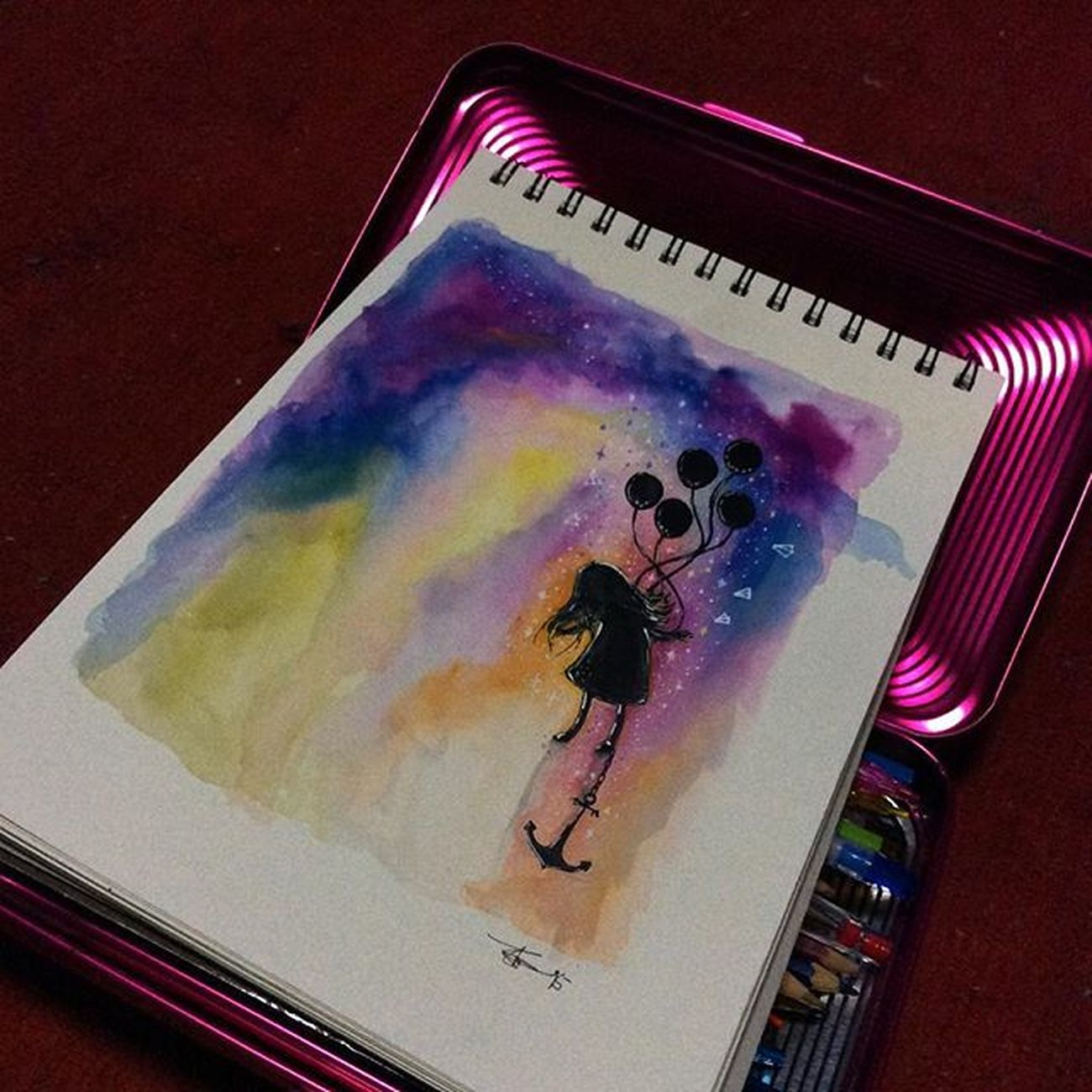 happy thoughts Repost Talentedpeopleinc Spotlightonartists Art_spotlight Worldofartists Proartists Tacart Art_cola Dailyartistiq Artworksfever Arts_help Justartshares Nawden  Theartslovers Featuregalaxy Sketchbook Imaginationarts Official_art_page Watercolor Drawing Talntsart Talnts Artsupporting
