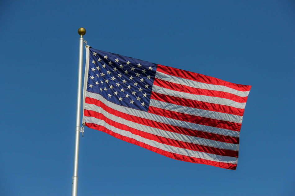Beautiful stock photos of sterne, American Culture, American Flag, Blue, Clear Sky