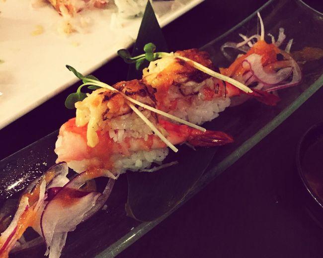 OnTheHouse CourtesyOf Chef Wasabi Sushi Prawn Dungeness Crab Maki