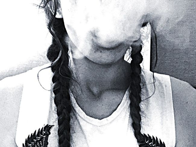 Flyin' Friday solo 🎶 Young Adult Photography Australia Melbourne Girl Cloudporn Person IPhoneography 420 Blackandwhite Headshot ThatsMe Model Braids Braided Hair