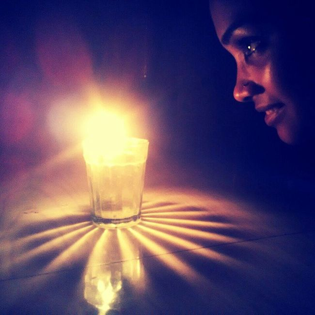 Power Outage NOthIng to do Insta TP Darkness Candle Glass Light Shadow FreeTime Macro Effect clicked from Xiaomi Redmi1s