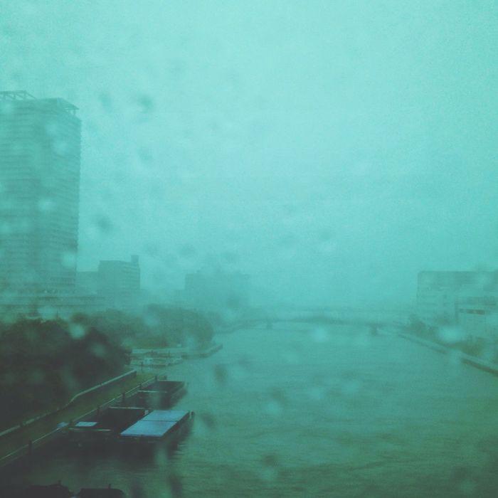 Typhoon Phanfone has hit Tokyo Cityscapes