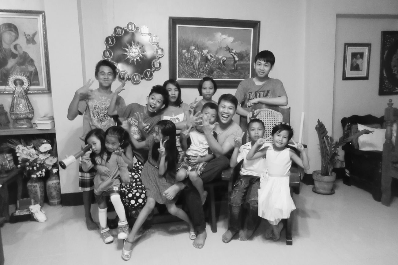 2016 Black And White Family Time Kiddo Nieces Nephews The happiness and joy they bring to us = colors. oh happy new year, every one :)