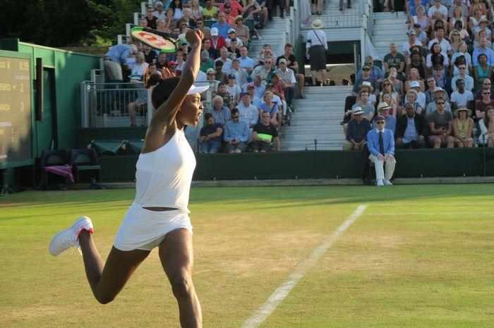 Action Shot  Athlete Day Grass Leisure Activity Lifestyles Outdoors Real People Served Sport Sportswoman Summer Tennis Tennis Court Tennis Racket Tennis Racquet Tennis 🎾 Wimbledon Women