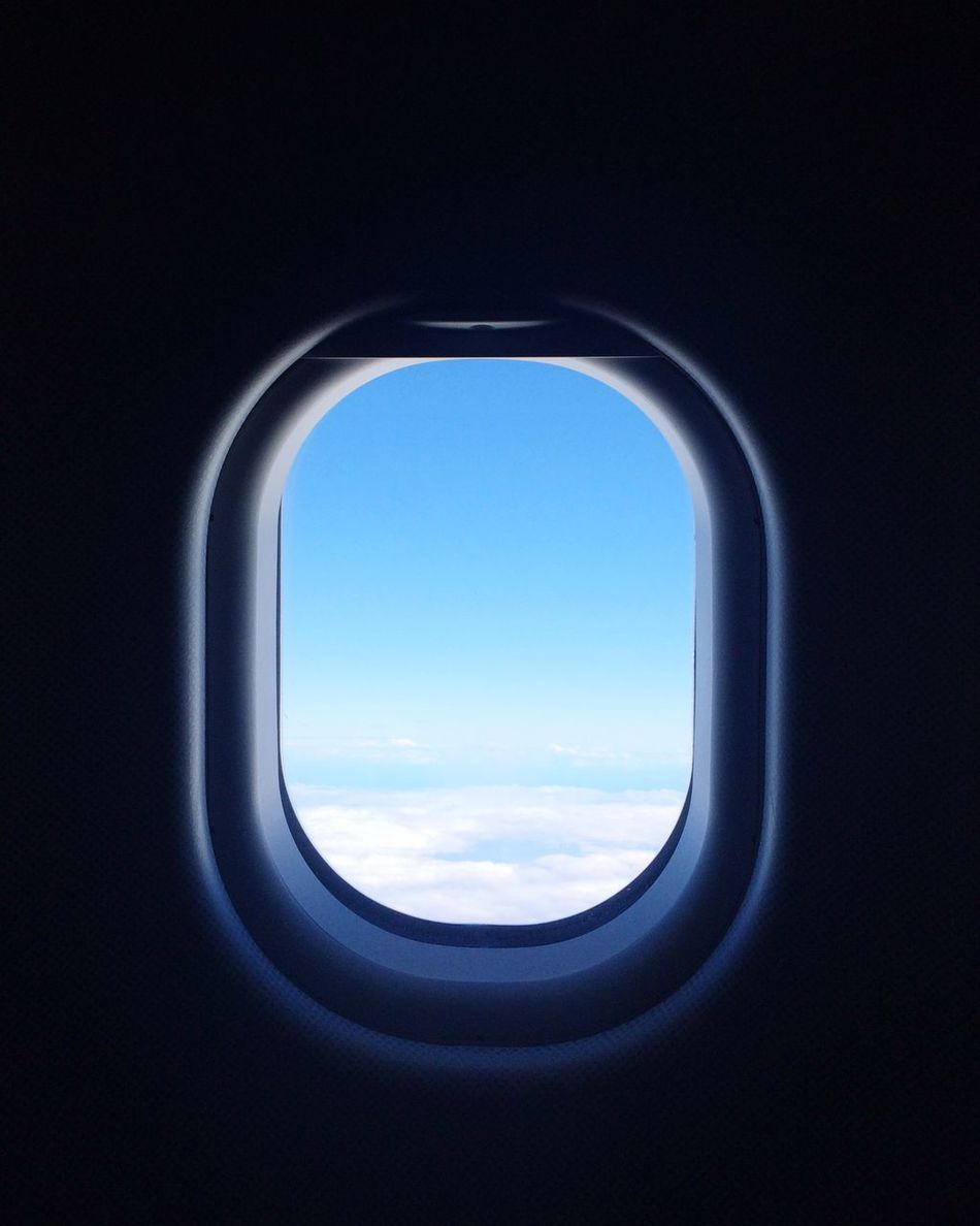 Beautiful stock photos of airplane, window, transportation, sky