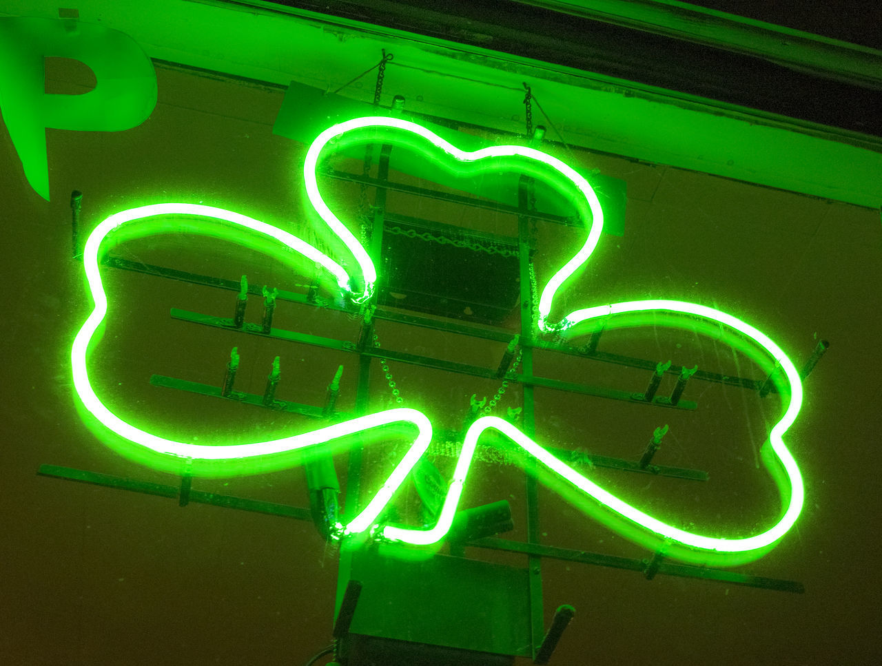 Get Lucky! Bright Green neon sign at the Shamrock Bar in Garbriels, Upstate New York inside the Adironadacks Bar Signs Bars And Pub Bright Colors Close Up Close-up Design Detail Glowing Good Luck Charm Green Clover Irish Neon Neon Color Neon Lights Neon Sign Neonlights No People Outdoors Restaurants Shamrock