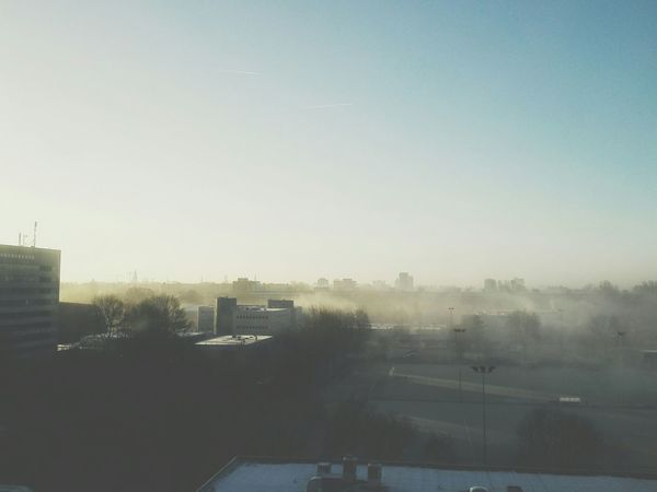 Taking Photos Foggy Morning Enjoying The View Myfuckinggroningen Nature Sunrise Fog Cityscape