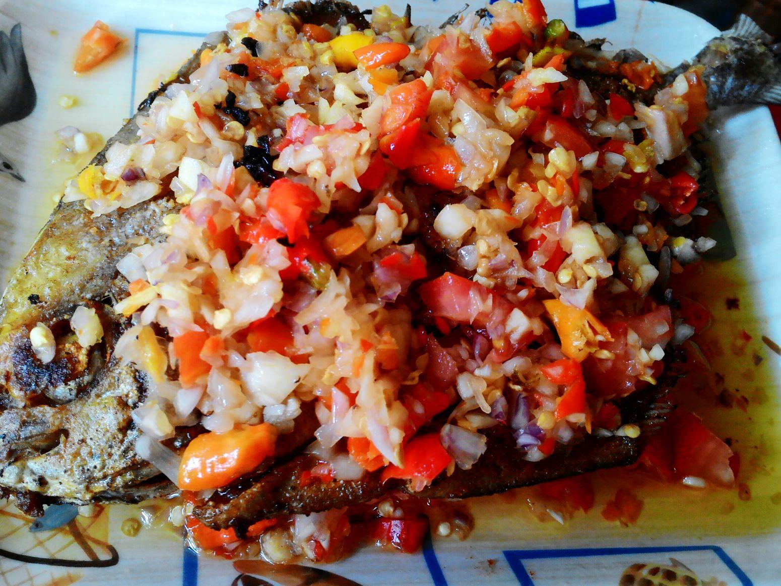 Hello World Fried Fish with Dabu Sambal Traditional Food I Love ♡ Indonesia Indonesia Banget
