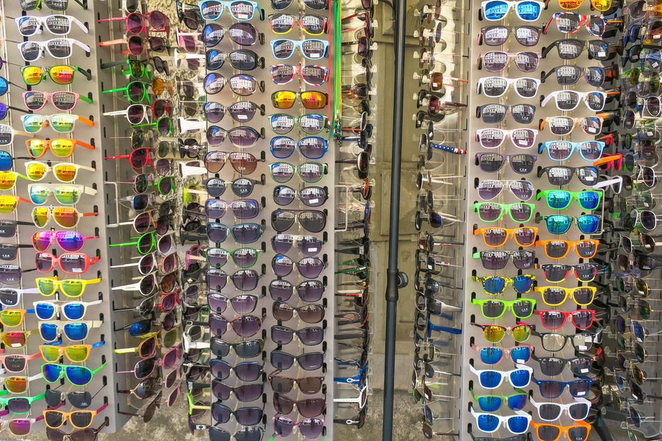 time to get a new pair, summer is coming soon!! Abundance Arrangement Choice Color Palette Colorful Day EyeEm Gallery Fashion For Sale Frühling Full Frame In A Row Large Group Of Objects Market Multi Colored No People Retail  Springtime Store Summertime Sunglasses Trendy Variation