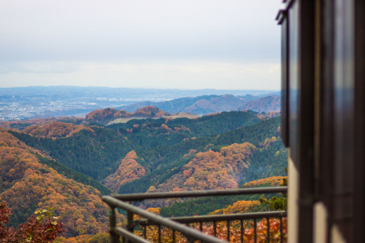 Architecture Beauty In Nature Cityscape Day Depth Of Field Japan Japan Photography Landscape Mountain Mountain Range Nature No People Outdoors Railing Scenic Lookout Scenics Sky Travel Travel Destinations