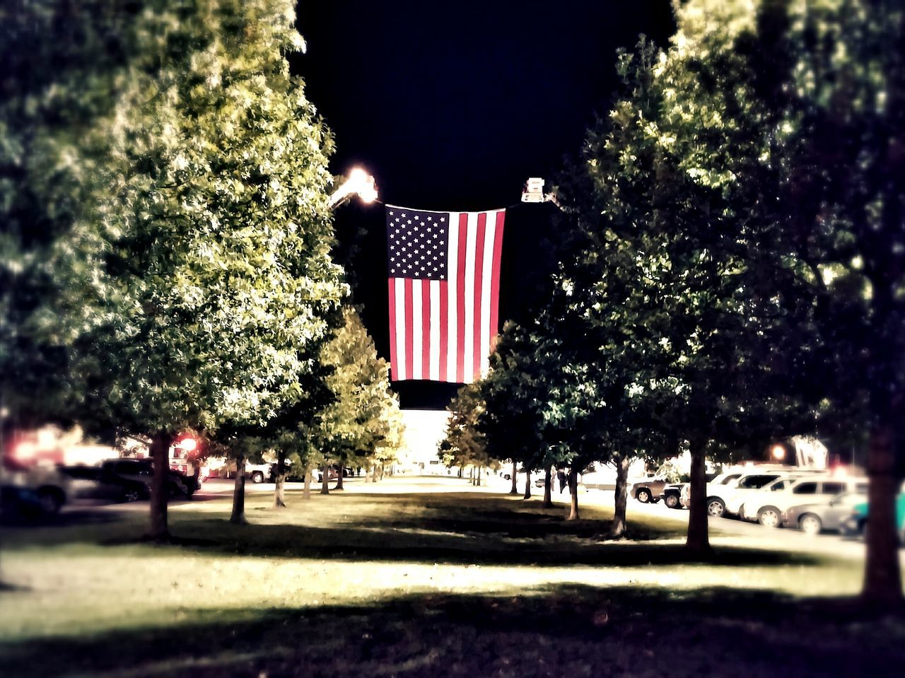 Memorial Patriotism Illuminated Flag Hoisted Flag Patriotic Memorials