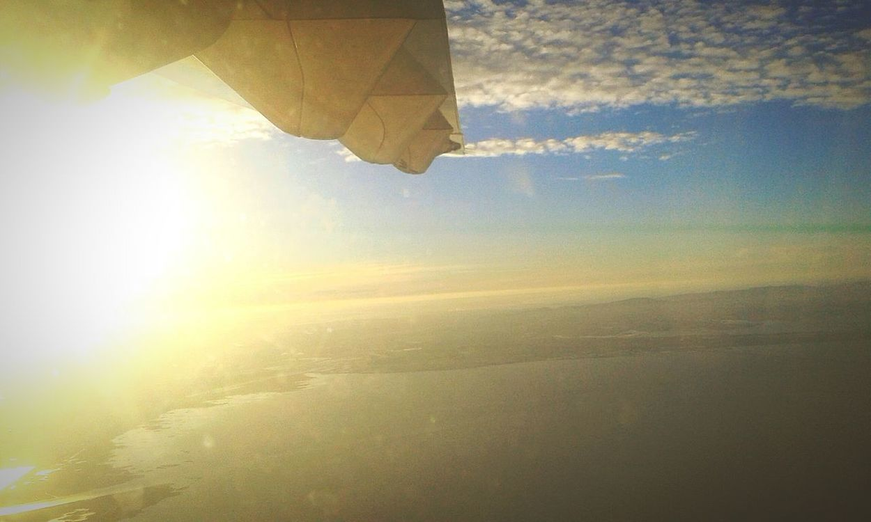 Sunlight Sky Aerial View Cloud - Sky Sunset ATR72 600 Tapportugal First Eyeem Photo