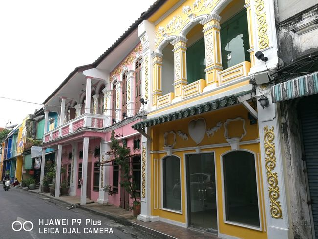 Old Town of Phuket ,Thailand Chinoportuguese