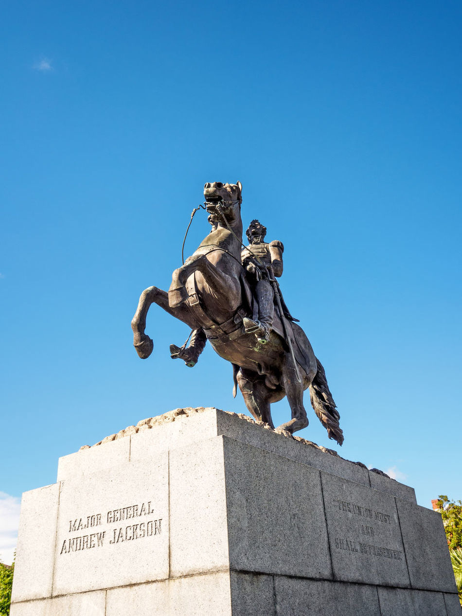 Statue of Andrew Jackson on a Horse in Jackson Square The French Quarter New Orleans 1 Andrew Jackson Architecture Building Exterior City Day French Quarter Horse Jackson Square New No People Outdoors Representing Sculpture Statue Travel