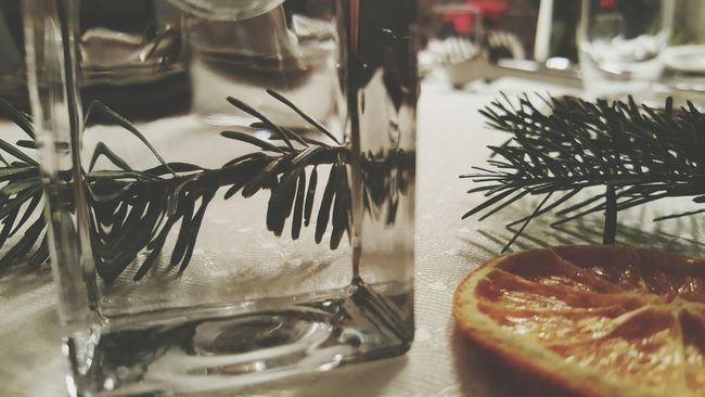 Indoors  Glass - Material Transparent Table Focus On Foreground Freshness No People At Home Sweet Home Christmas Christmas Decorations Christmas Spirit Decoration Indoors  Table Decoration The Culture Of The Holidays Freshness Close-up Indoors  Card Design