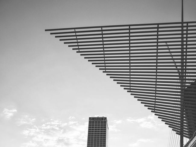 Architecture Low Angle View Building Exterior Built Structure Sky Clear Sky No People Outdoors City Day Modern Architectural Style Construction Skyscraper Urban Scenery Eye4photography  EyeEm Gallery Milwaukee Milwaukee Art Museum