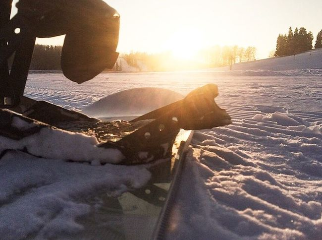 Sunset Snowboarding Snow Snowboard Winter First Eyeem Photo