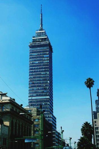 Torre latino desde correo mayor Torre Latinoaméricana  Mexico Estructuras