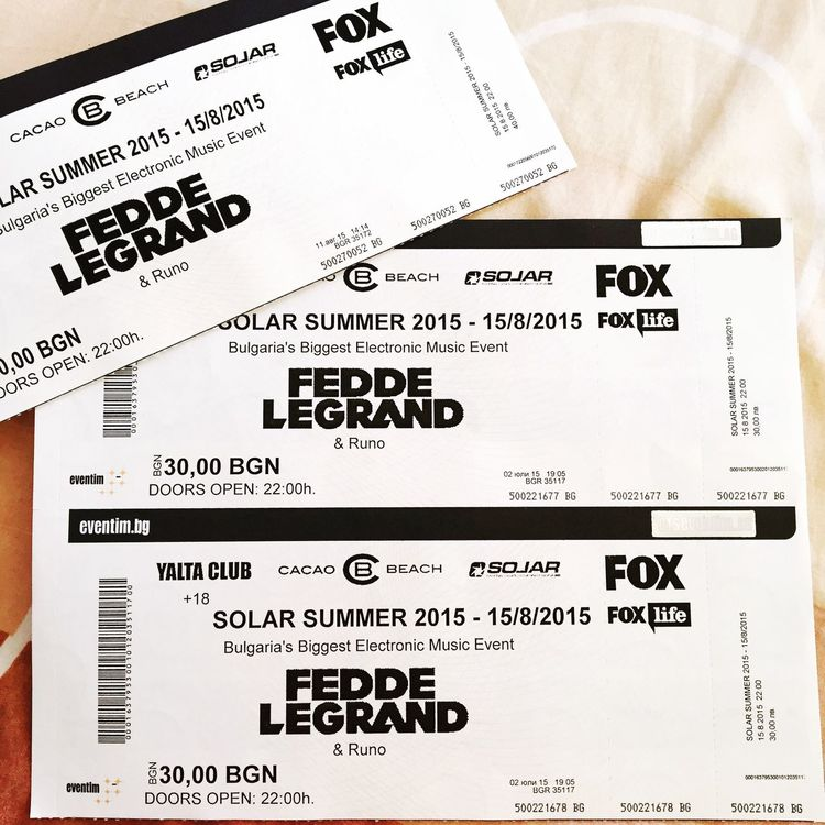 Feddelegrand Bulgaria Summer Tickets Concert Amazing