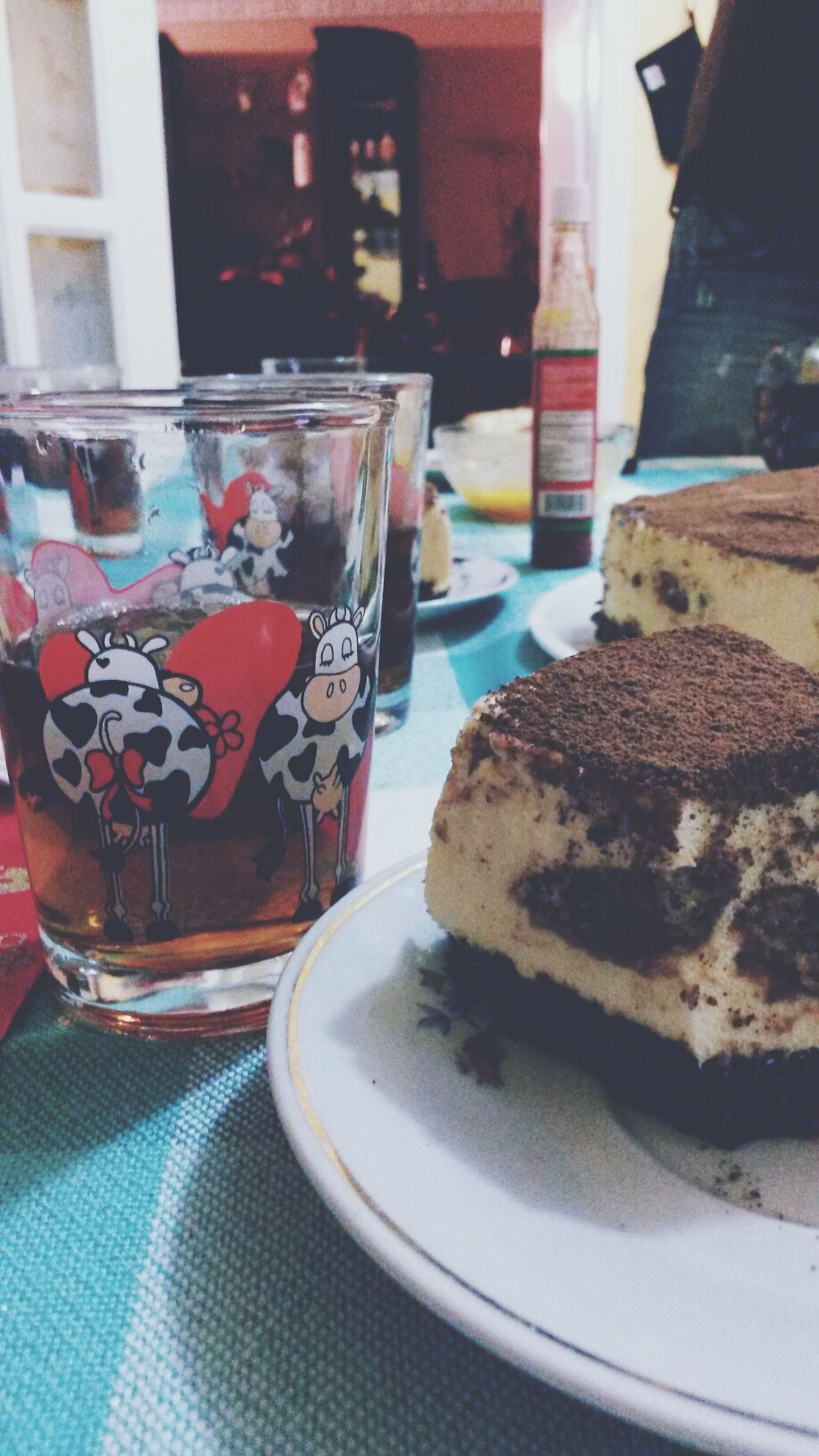 food and drink, indoors, table, still life, drink, sweet food, food, freshness, refreshment, dessert, unhealthy eating, ready-to-eat, indulgence, plate, drinking glass, close-up, glass - material, cake, coffee cup, coffee - drink