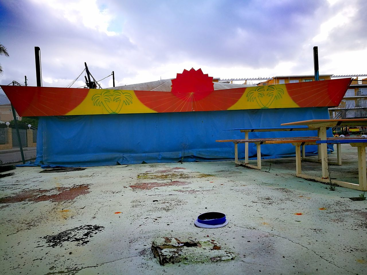 Cloud - Sky Sky Multi Colored City No People Outdoors Day Architecture Building Exterior Street Photography Finding New Frontiers Abandoned & Derelict Abandoned Places Outdoor Cityscape Hat On Pavement Architecture Traveling Home For The Holidays