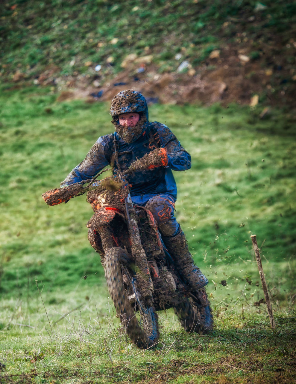 real people, field, one person, day, outdoors, full length, lifestyles, men, grass, weapon, army soldier, nature, one man only, camouflage clothing, motocross, young adult, people