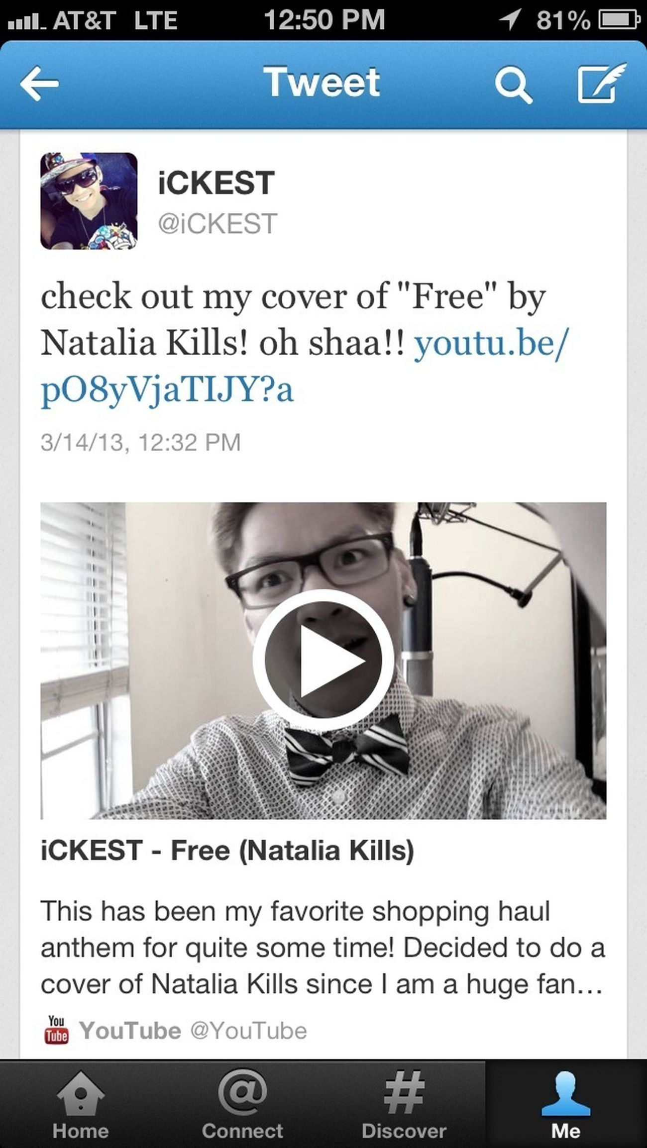 """FREE"" now up on my YouTube channel!"