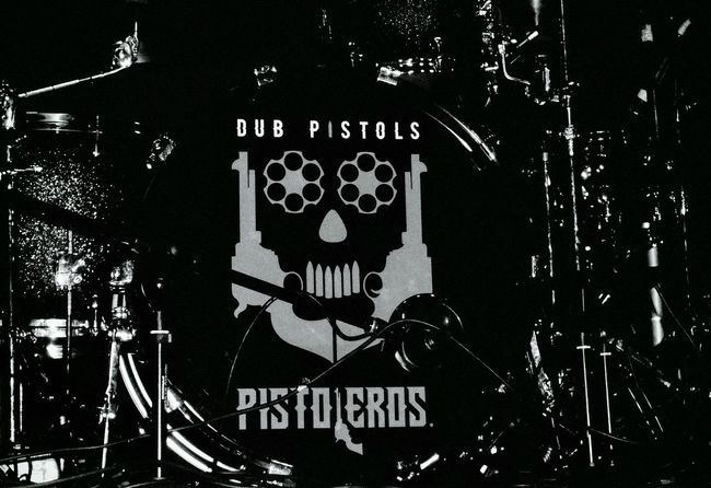 Blackandwhite Photography Band Live Music Frome  Dub Pistols Drumkit