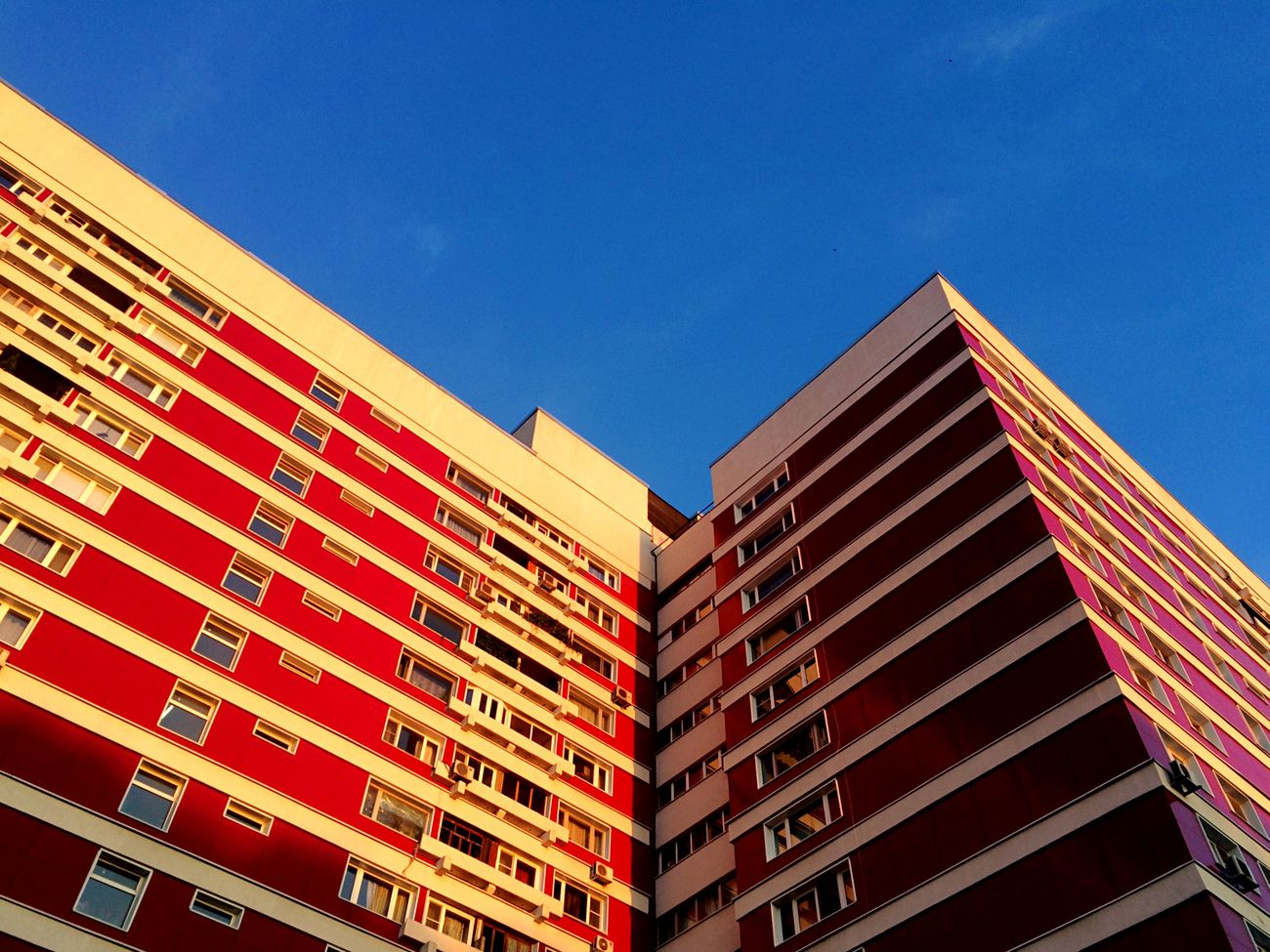 Architecture City MyHOUSE Home Sweet Home Bright Lights Red Geometry Contrast