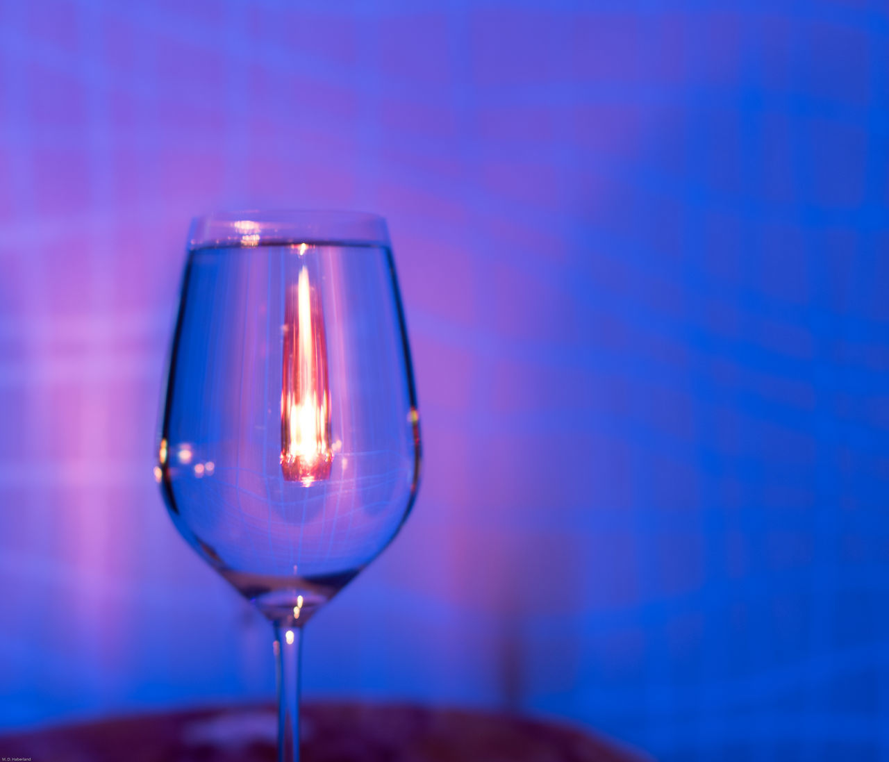 Blacklight Magic Glass Candle Light Mirrored Illuminated Indoors  Waterglass No People Effects Candle Night EyeEmNewHere