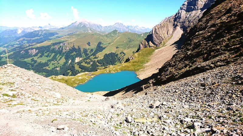 Fluhsee Simmental Switzerland Lenk Travel Destinations Berner Oberland Mountain Landscape Tourism Travel No People Outdoors Beauty In Nature Mountain Range Nature Vacations Water Wildstrubel