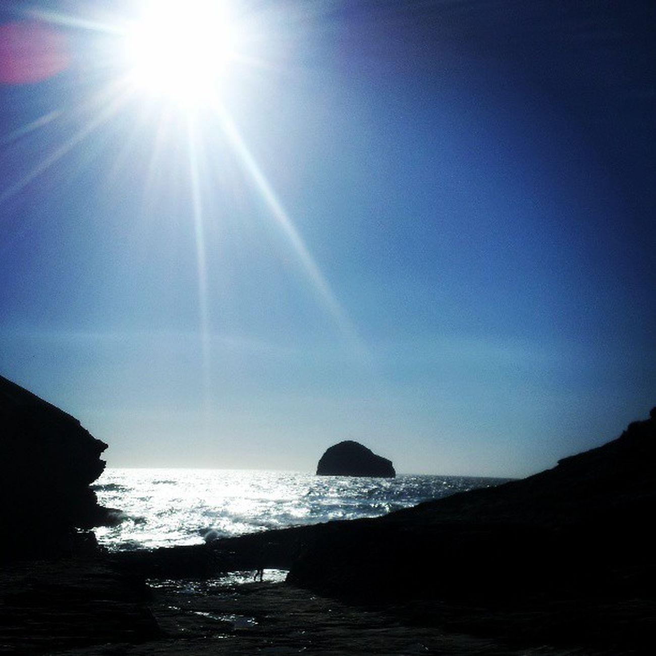 Sun Trebarwith Beach Starships Coast Sea And Sky Cornwall Greatday Ocean Silhouette Cliffs