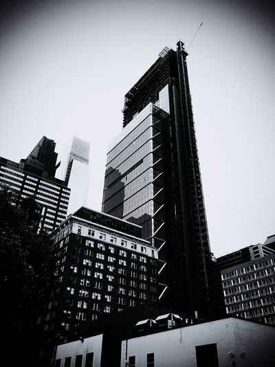 Architecture Building Exterior Built Structure Low Angle View Skyscraper Clear Sky City Day Window Outdoors Modern No People Sky Corporate Business Comcast Tower 2 B&w The Architect - 2017 EyeEm Awards Neighborhood Map