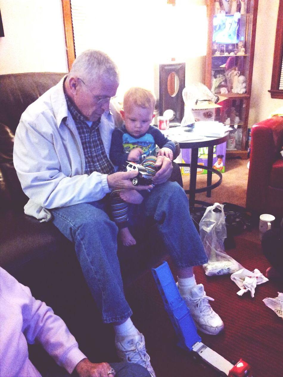 Grandpa And Grayson Family