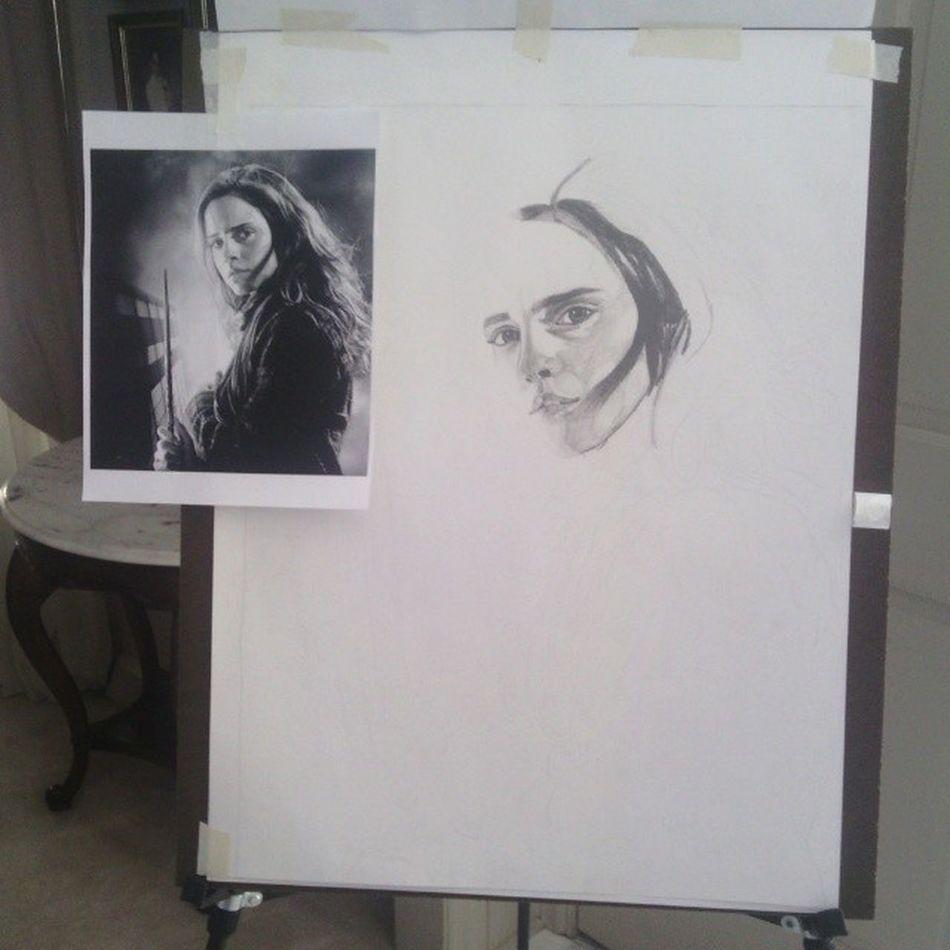 Started shading today! Hermione Todayinart Ebony Art1