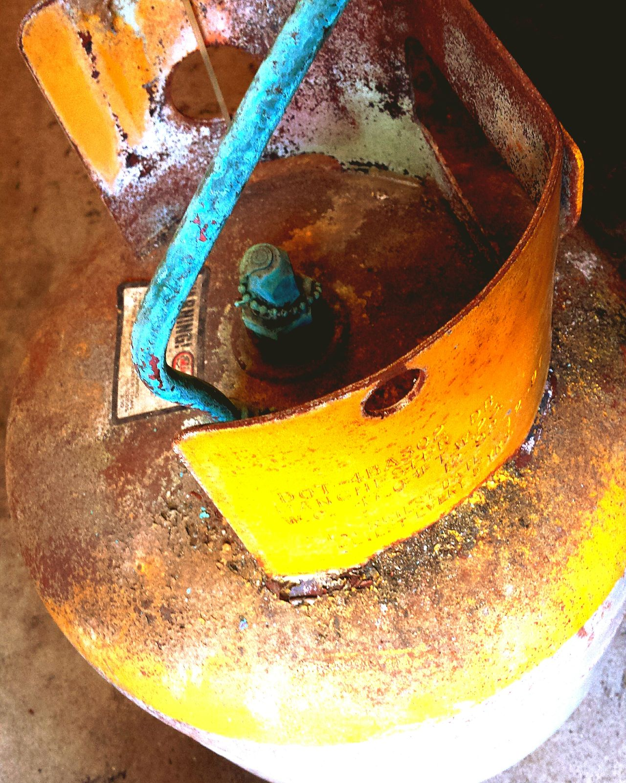 Old refrigerant tank. Still pressurised...used as a door stop. On A Break Working Urban Filter 4 Observing Enjoying Life Light And Shadow Patina Paint Decay Rustygoodness Dangerous