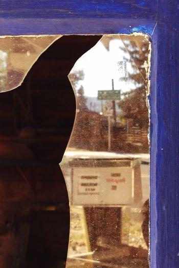 IPhoneography Window Broken Glass Gas Pump Gas Station Reflection Fort Klamath