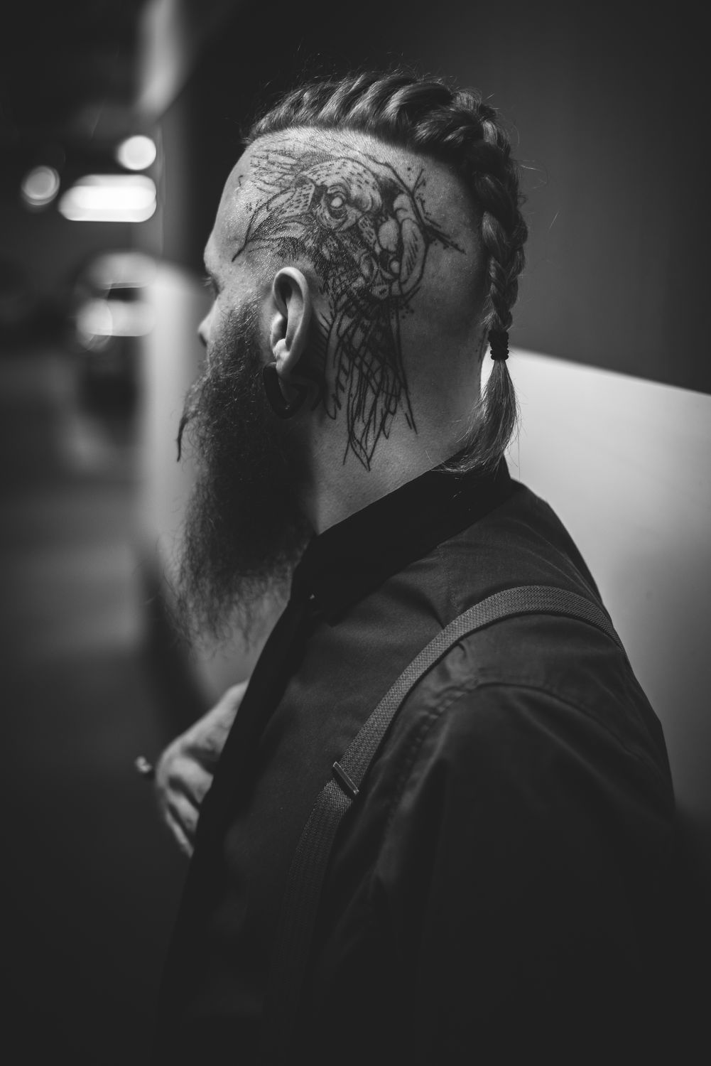 Timon Rostock streetphotography Fashion tattoo beard real people leisure activity one person indoors lifestyles men young adult close-up day EyeEmNewHere