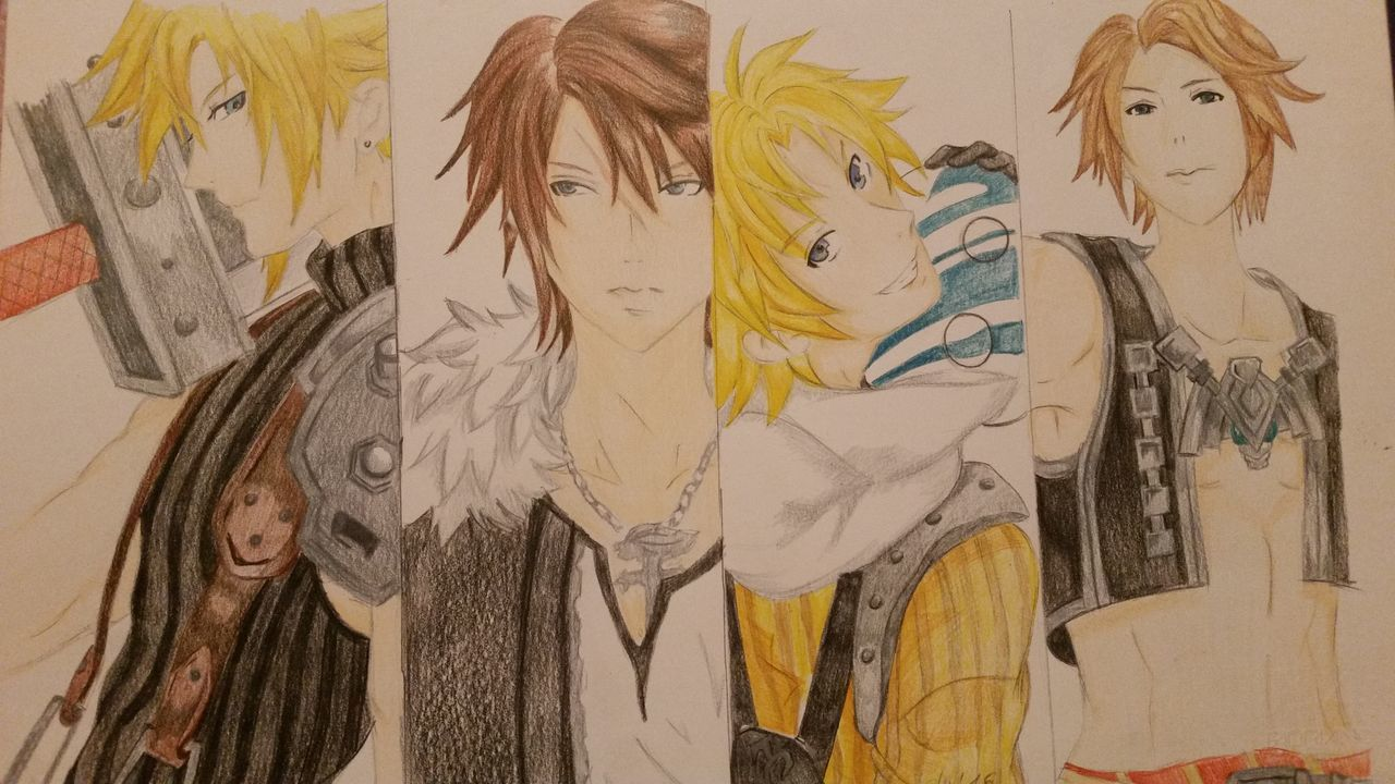 Art Disegni Manga❤️ Riproduzione Final Fantasy Final Fantasy 8 Squall Final Fantasy10 Tidus Final Fantasy 7 Cloud Strife Vaan