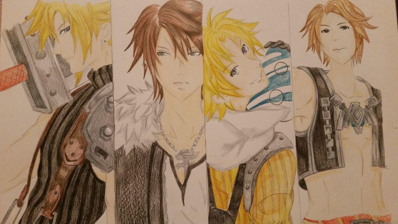 Matita In Vendita Fan Art Manga~ Finalfantasy Finalfantasy8 Pastelli Finalfantasy 10 Final Fantasy 7 Cloud Strife Vaan Tidus