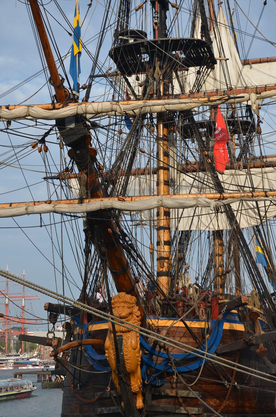 Amsterdam sail 2015 Amsterdam Sail Sailboat Masts Sail Boats Sail Amsterdam 2015 Sailing Day Crows Nest Pirateship  Ships⚓️⛵️🚢 No People Day Outdoors Sky Transportation Ship Deck Close-up