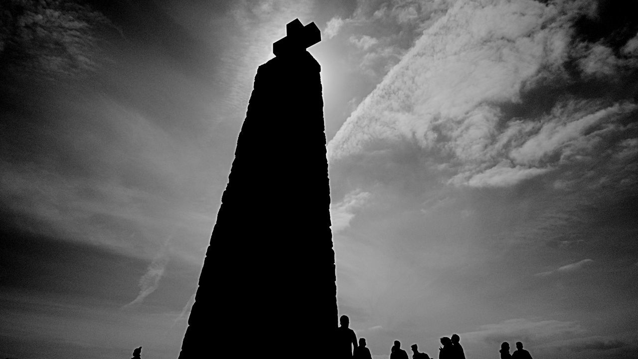 The Cross Photography Black and White Cabo Da Roca. Sintra Cross Eye4photography  Eyemphotography Monochrome Working, Office , Life , Black And White