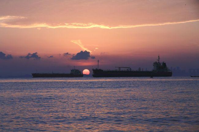 When the sun goes down Sunset Sun Water Shipyard Landscape My Life My Adventure Journey Exploreindonesia